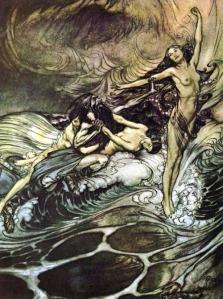 Las hijas del Rin se burlan de Alberich